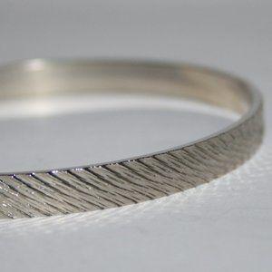 Vintage silver bangle bracelet